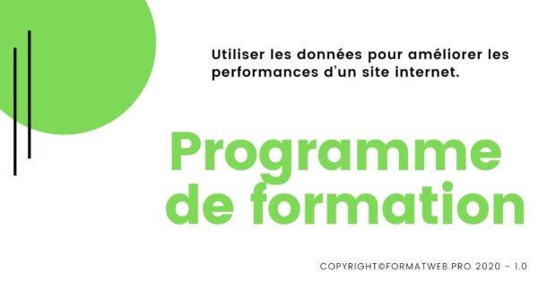 Programme de formation Utiliser les données pour améliorer les performances d'un site internet
